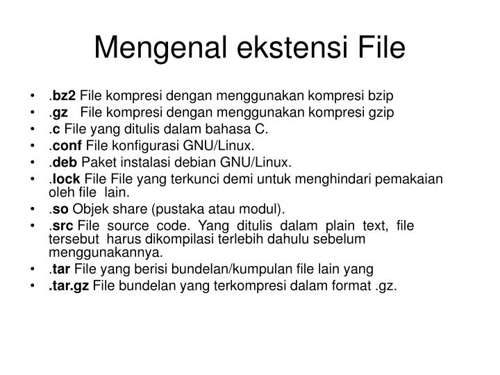 Mengenal ekstensi File
