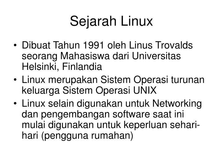 Sejarah Linux