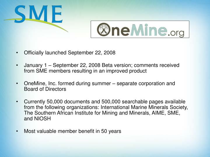 Officially launched September 22, 2008