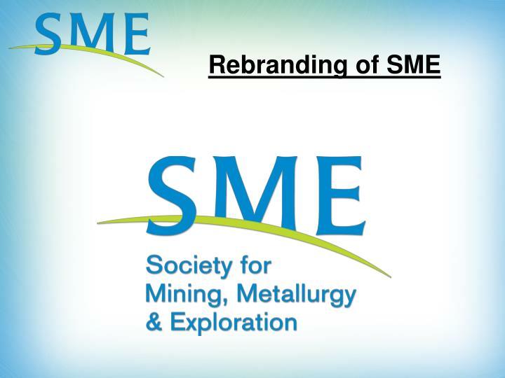 Rebranding of SME
