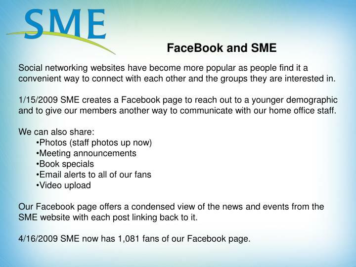 FaceBook and SME