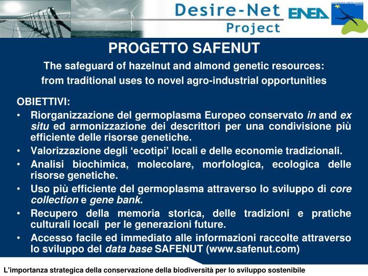 PROGETTO SAFENUT