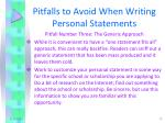 pitfalls to avoid when writing personal statements2