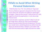 pitfalls to avoid when writing personal statements3