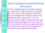 tips for crafting successful personal statements1