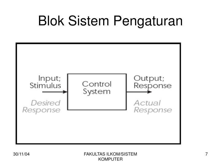 Blok Sistem Pengaturan