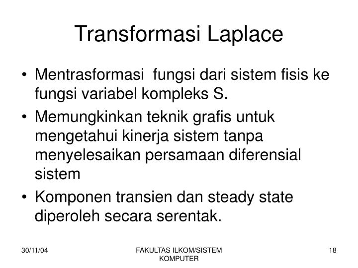 Transformasi Laplace