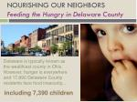 nourishing our neighbors feeding the hungry in delaware county1