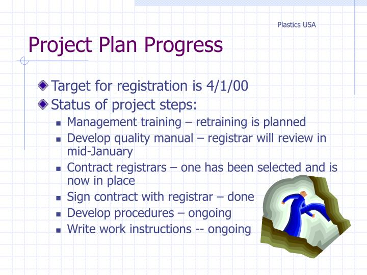 Project Plan Progress