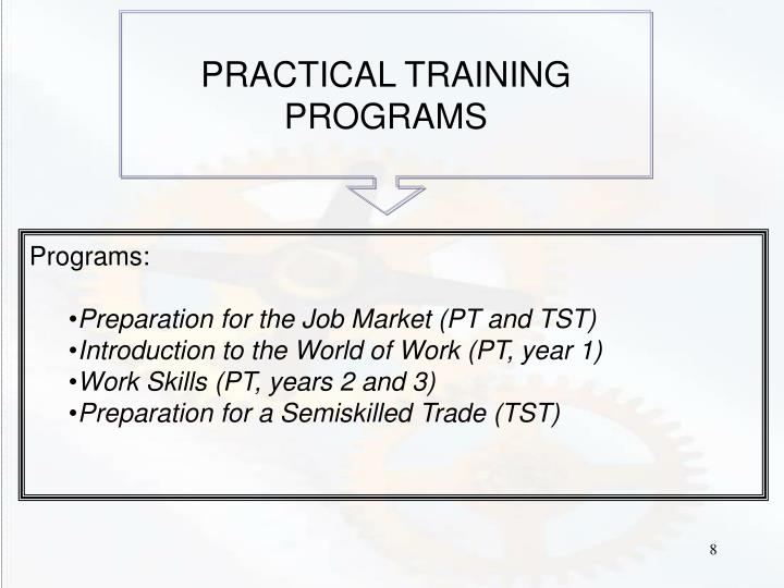 PRACTICAL TRAINING PROGRAMS