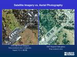 satellite imagery vs aerial photography