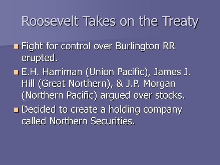 Roosevelt Takes on the Treaty