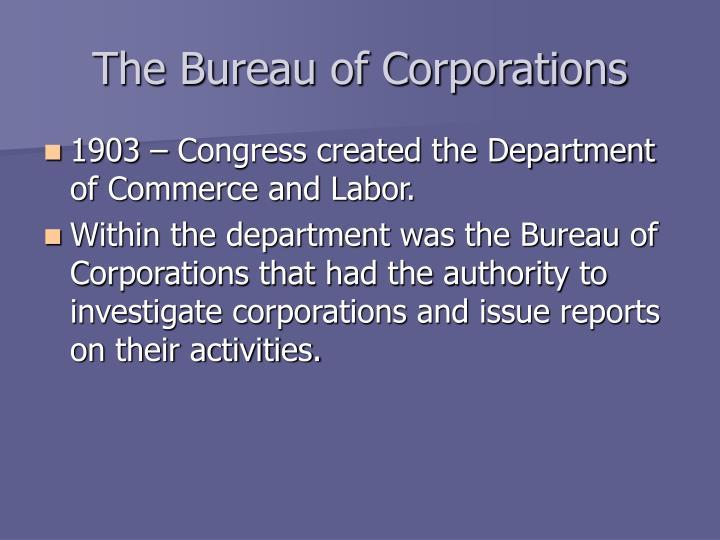The Bureau of Corporations