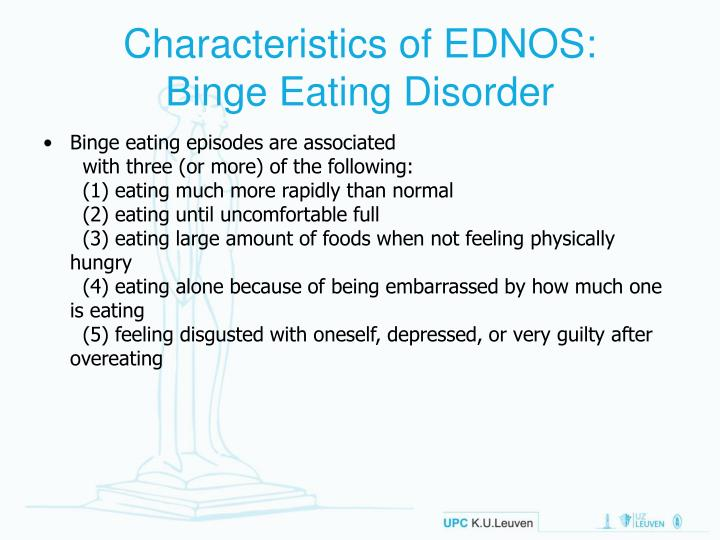 relationship between depression and binge eating disorder The purpose of this systematic literature review is to examine previous studies that investigated the relation between depression and binge eating disorder (bed) medline/pubmed published data from 1980 through 2006 was tracked using the following ke.