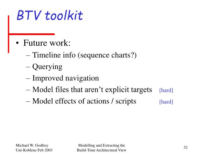 BTV toolkit