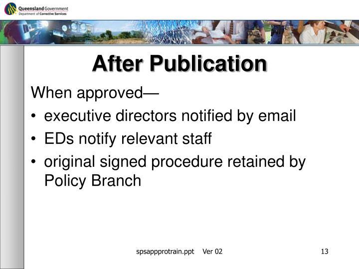 After Publication