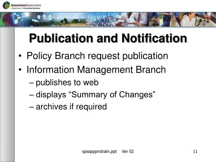 Publication and Notification