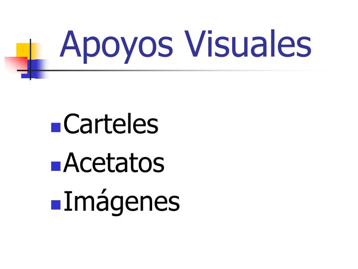 Apoyos visuales