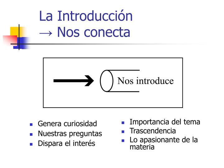 La Introducción