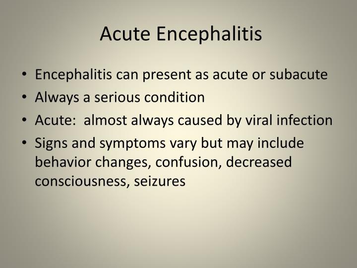 Acute Encephalitis