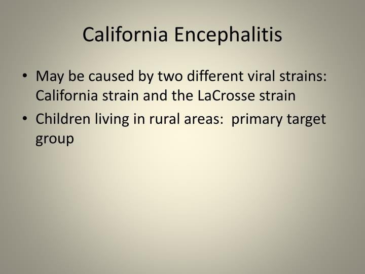California Encephalitis