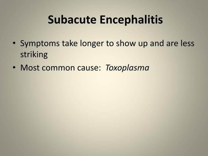 Subacute Encephalitis