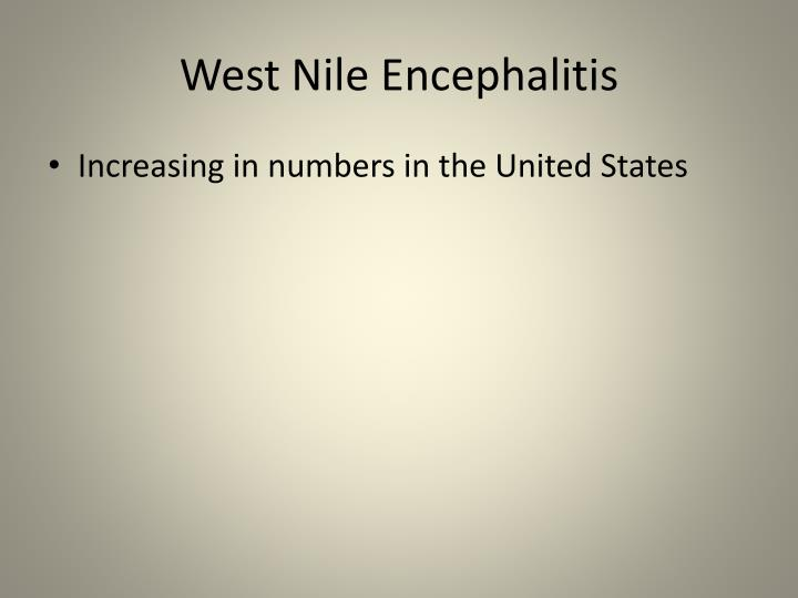 West Nile Encephalitis