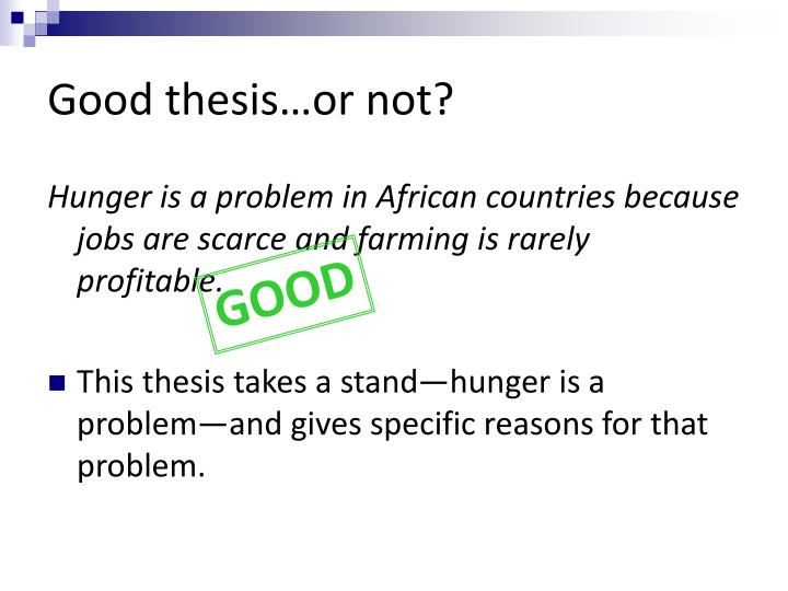 Good thesis…or not?