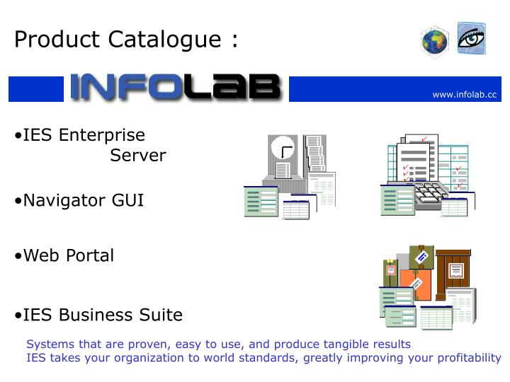 Product Catalogue :