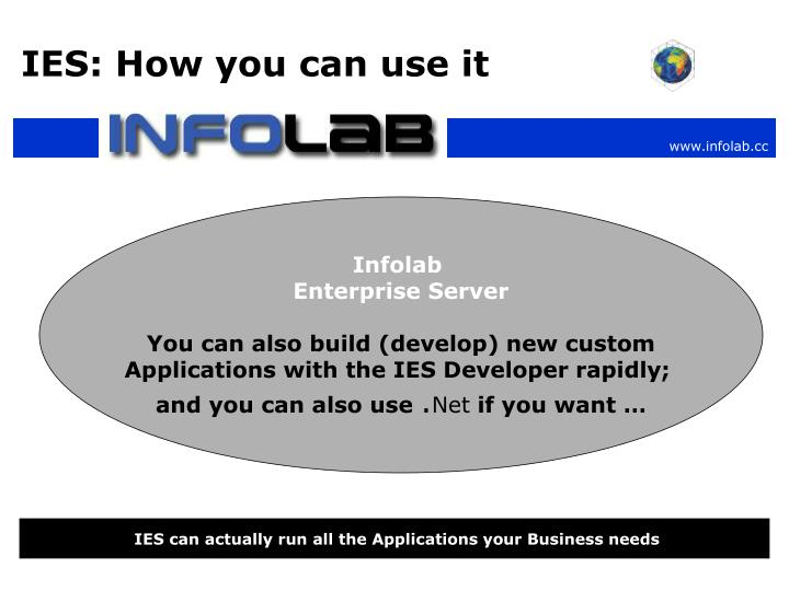 IES: How you can use it