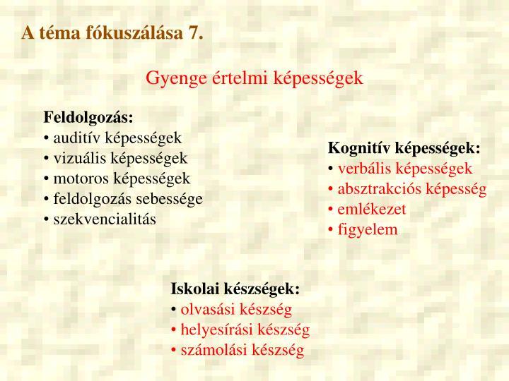 A téma fókuszálása 7.