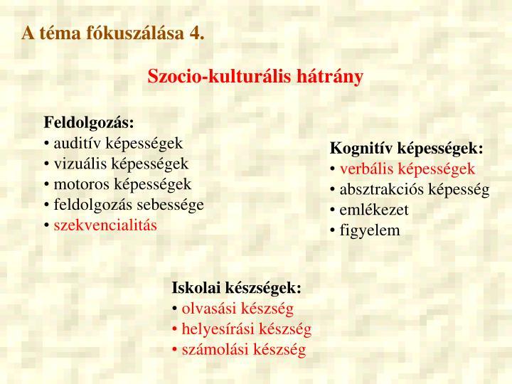 A téma fókuszálása 4.