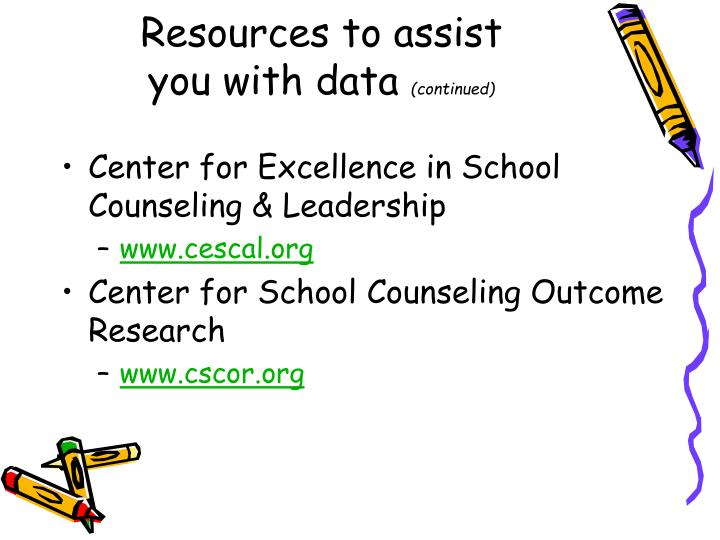 Resources to assist