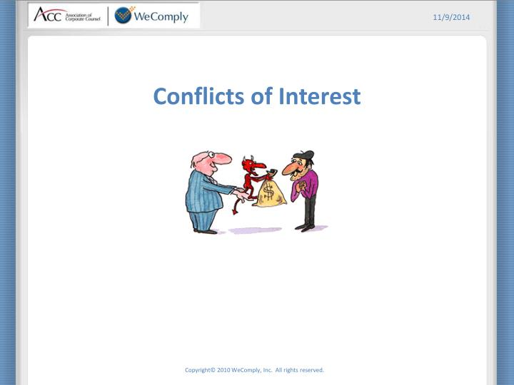 Conflicts of interest1