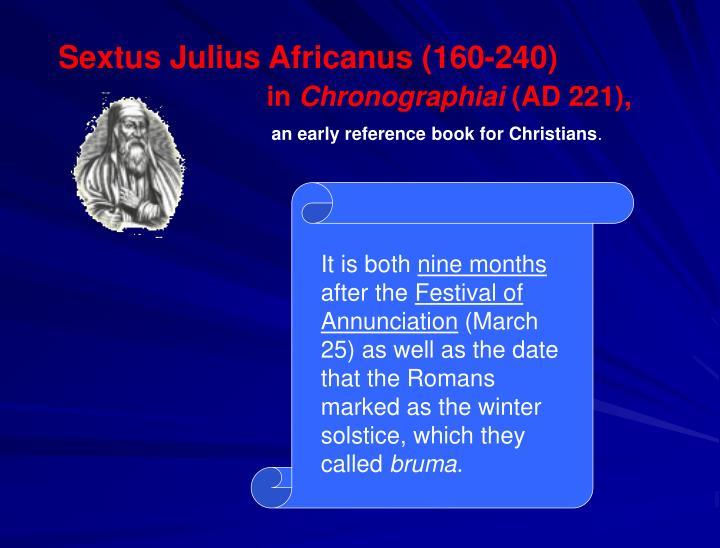 Sextus Julius Africanus (160-240)