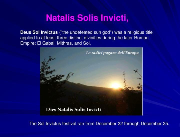 Natalis Solis Invicti,