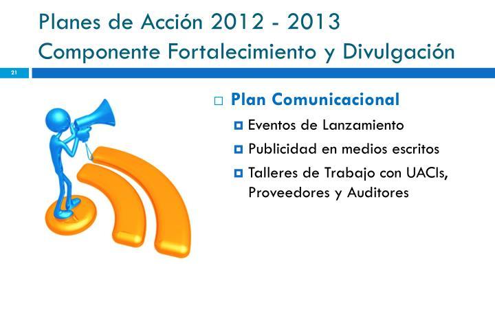 Planes de Acción 2012 - 2013