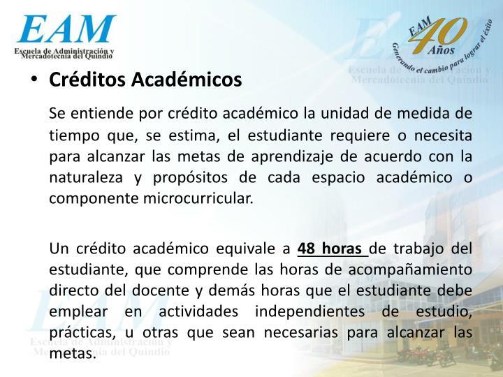 Créditos Académicos