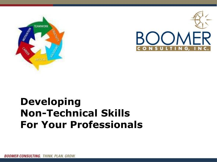 developing non technical skills for your professionals