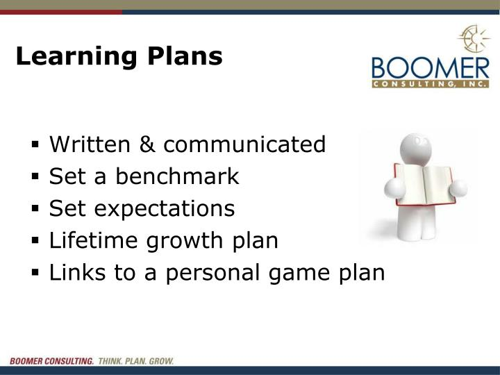 Learning Plans
