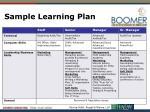 sample learning plan