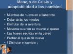 manejo de crisis y adaptabilidad a los cambios1