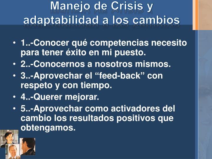 Manejo de Crisis y adaptabilidad a los cambios