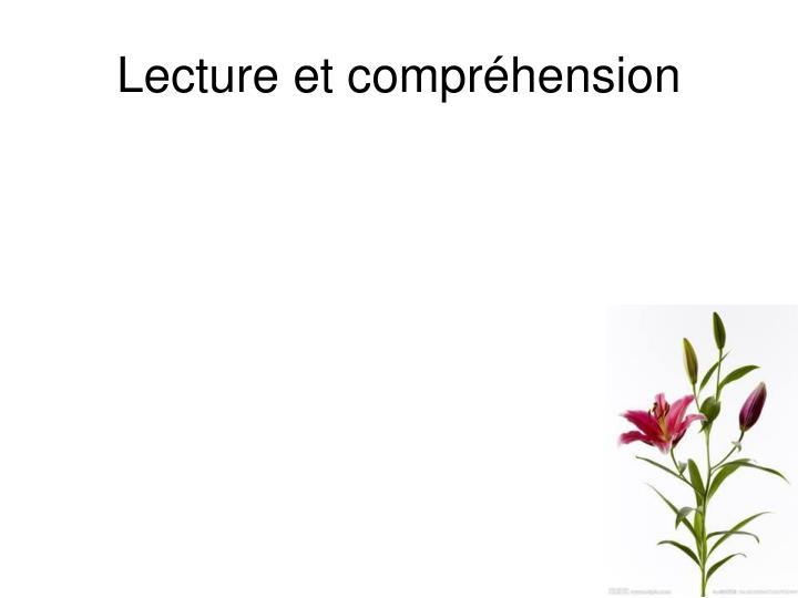 Lecture et compréhension