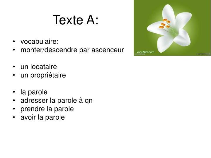 Texte A: