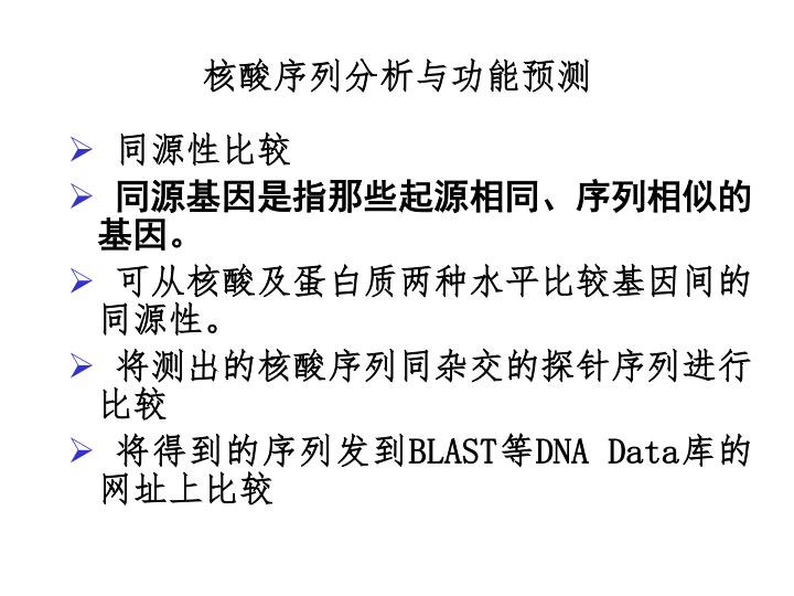 核酸序列分析与功能预测