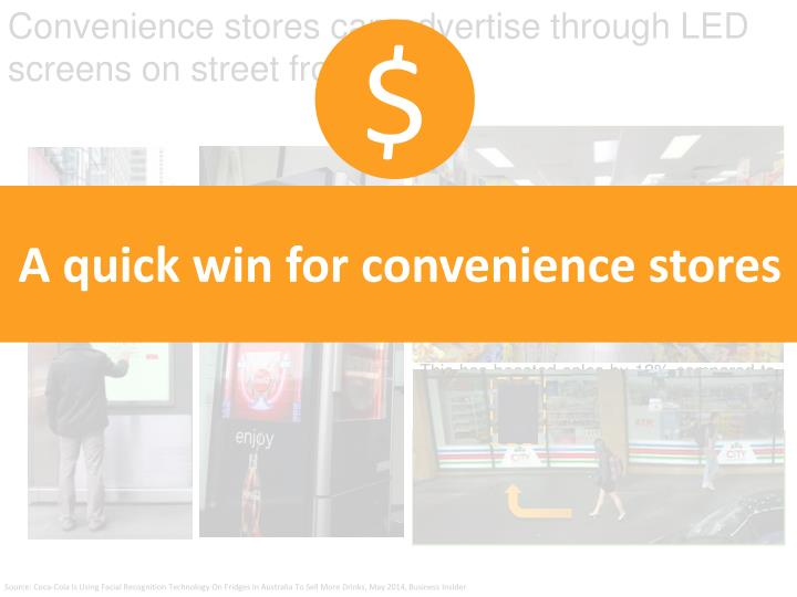 Convenience stores can