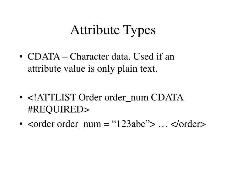 Attribute Types