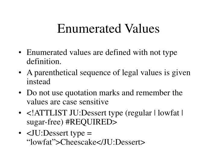 Enumerated Values
