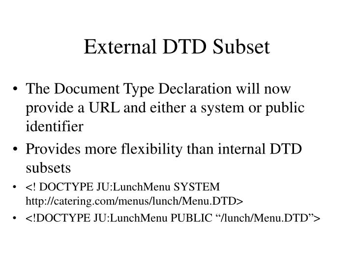 External DTD Subset